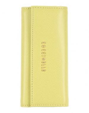 Брелок для ключей COCCINELLE. Цвет: кислотно-зеленый