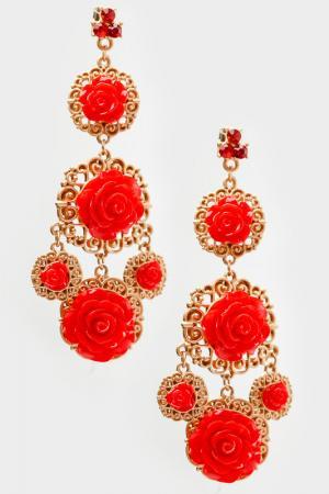 Серьги Patricia Bruni. Цвет: красный