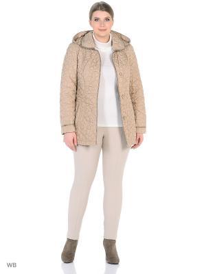 Утепленная куртка MONTSERRAT. Цвет: бежевый