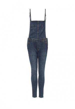 Комбинезон джинсовый Tom Tailor Denim. Цвет: синий