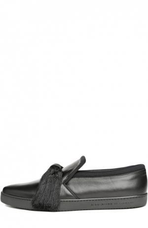 Кожаные слипоны Maestro Sport с кисточками Aleksandersiradekian. Цвет: черный