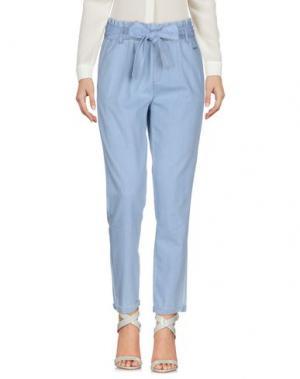 Повседневные брюки MAISON ESPIN. Цвет: небесно-голубой