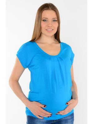 Блуза с защипами Ням-Ням. Цвет: бирюзовый