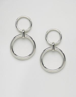 Gogo Philip Серьги с двойными кольцами. Цвет: золотой