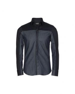 Джинсовая рубашка EMPORIO ARMANI. Цвет: синий