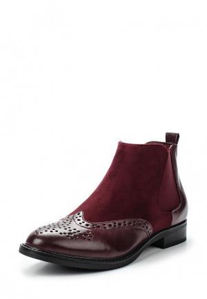 Ботинки Renda. Цвет: бордовый