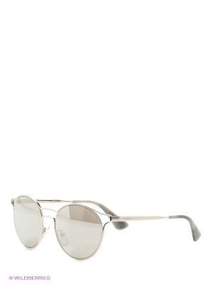 Очки солнцезащитные CINEMA PRADA. Цвет: серебристый