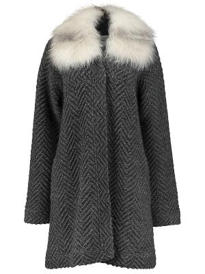 Пальто Anna Rachele. Цвет: серый
