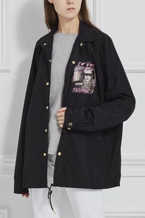 Куртка-ветровка Joyrich. Цвет: черный