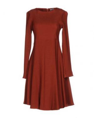 Короткое платье ANGELA MELE MILANO. Цвет: ржаво-коричневый
