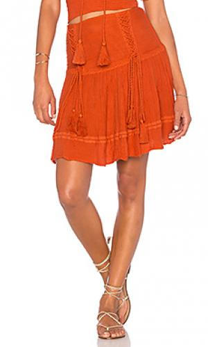 Юбка мини puma Jens Pirate Booty Jen's. Цвет: тёмно-оранжевый
