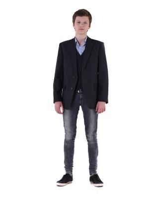 Пиджак WunderKids. Цвет: темно-серый