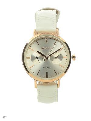 Часы Sheen SHE-3054PGL-7A CASIO. Цвет: белый