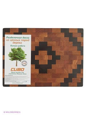 Доска разделочная Ромб CUBO. Цвет: светло-коричневый, темно-бежевый