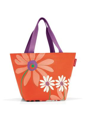 Сумка Shopper M special edition structure Reisenthel. Цвет: черный, фиолетовый, оранжевый