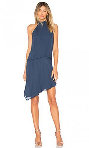 Платье со складками katherine Haute Hippie. Цвет: синий