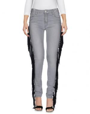 Джинсовые брюки DON'T CRY. Цвет: серый