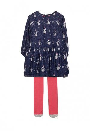 Комплект колготки и платье Marks & Spencer. Цвет: разноцветный