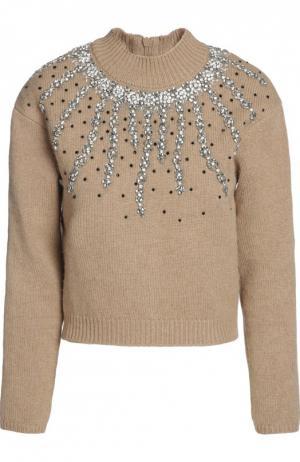 Вязаный свитер Giambattista Valli. Цвет: коричневый