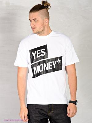 Футболка Money. Цвет: белый, черный