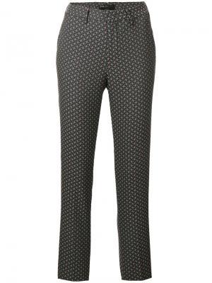 Укороченные брюки с узором Pt01. Цвет: многоцветный