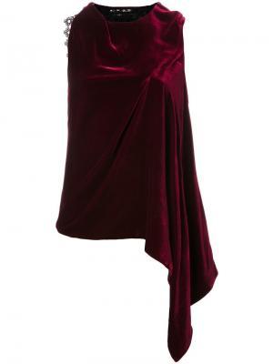 Асимметричная блузка Coldridge Roland Mouret. Цвет: красный