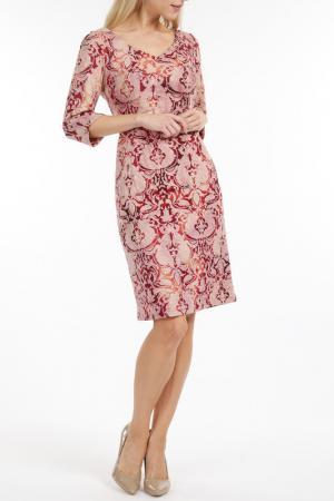 Dress TOK. Цвет: burgundy, pink, beige