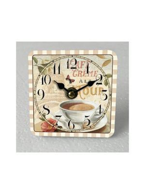 Часы настольные Чашка кофе Magic Home. Цвет: бежевый