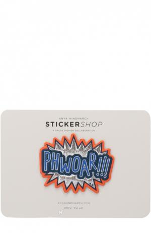 Кожаный стикер Phwoar Anya Hindmarch. Цвет: разноцветный