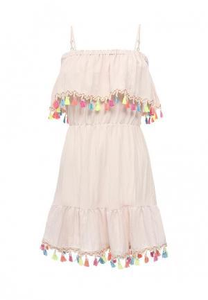 Платье Imocean. Цвет: розовый