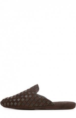 Домашние туфли без задника Homers At Home. Цвет: коричневый