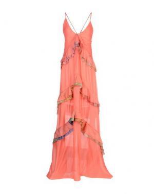 Длинное платье JUST CAVALLI. Цвет: коралловый
