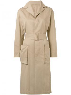 Классическое пальто 08Sircus. Цвет: телесный