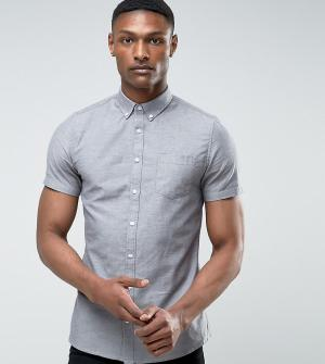 Burton Menswear Серая оксфордская рубашка с короткими рукавами TALL. Цвет: серый