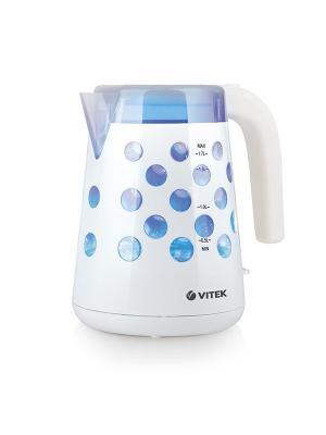 Чайник VITEK 7048(W) , Мощность 1850-2200Вт Макс.объем 1.7л. Цвет: белый