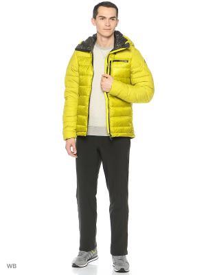 Пуховик Terrex Climaheat Techrock Green Hooded Jacket Adidas. Цвет: зеленый, черный