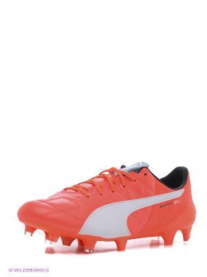 Бутсы evoSPEED SL Lth FG Puma. Цвет: оранжевый