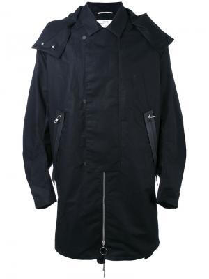 Пальто с классическим воротником Oamc. Цвет: синий