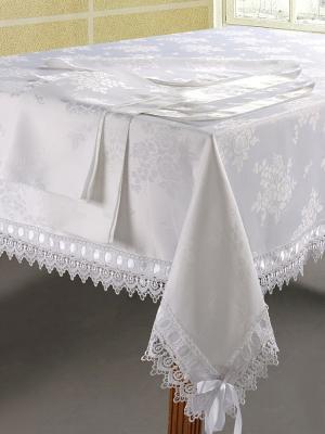 Скатерть с салфетками Soft Line. Цвет: белый