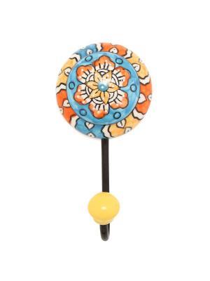 Вешалка-крючок ГАНГ. Цвет: голубой, оранжевый