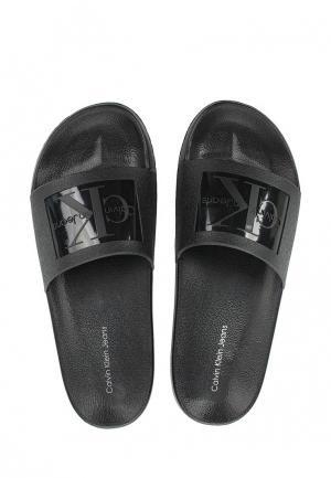 Шлепанцы Calvin Klein Jeans. Цвет: черный