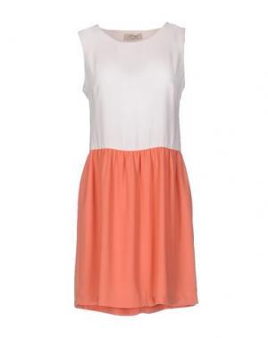 Короткое платье LOU LONDON. Цвет: ржаво-коричневый