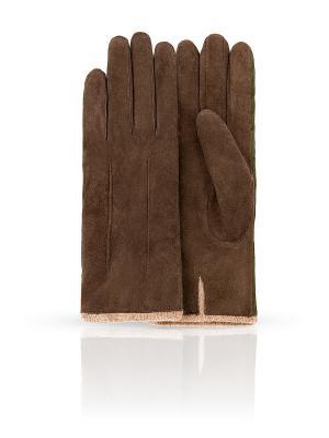 Перчатки Dali Exclusive. Цвет: зеленый, коричневый
