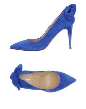 Туфли STELE. Цвет: ярко-синий