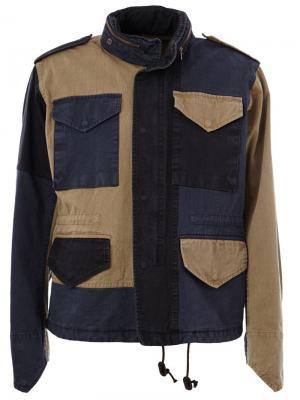 Куртка Beacon лоскутного кроя Kolor. Цвет: синий