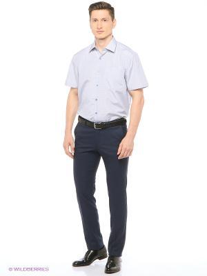 Рубашка мужская с коротким рукавом в клетку Mr. Marten. Цвет: серый