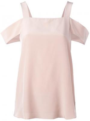 Блузка с вырезами на плечах Tibi. Цвет: телесный