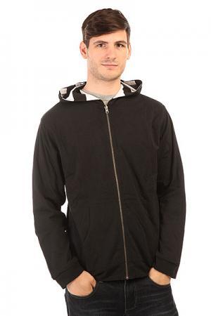 Толстовка классическая  Reversible Newport Zip Hood Black/White Fallen. Цвет: черный,белый