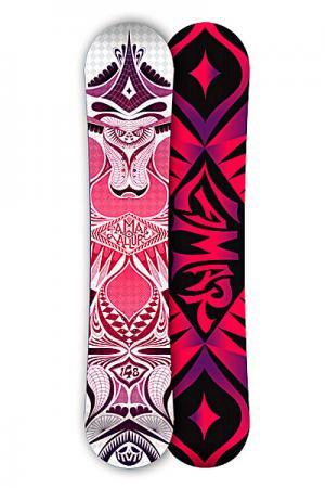 Сноуборд женский  Allure Anti Cam Sidewall White 148 Lamar. Цвет: красный,черный