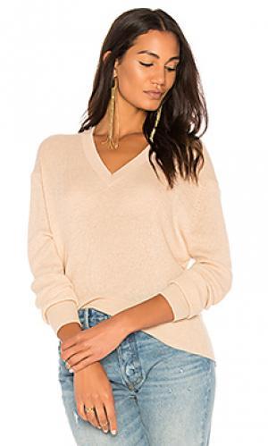 Рваный свитер с асимметричным подолом Autumn Cashmere. Цвет: беж